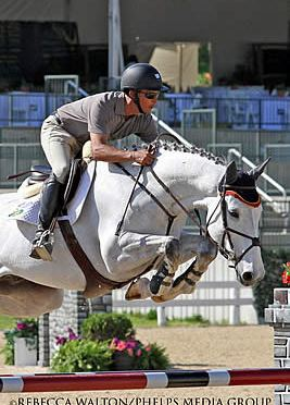 Pablo Barrios Remains Triumphant in Open Jumpers at Kentucky Spring Horse Show