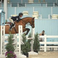 Ailish Cunniffe and Venice won Section A of the ASPCA Maclay Horsemanship class