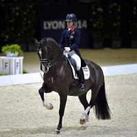 Charlotte Dujardin (GBR) and Valegro, pictured at the Reem Acra FEI World Cup™ Dressage Final 2014, head the FEI World Individual Dressage Rankings.