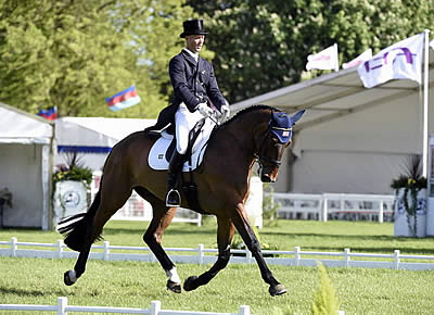Clark Montgomery Nails Dressage Lead at Badminton