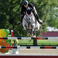 ©ESI Photography. Kama Godek and Air Force one on their way to a win in the $15,000 Brook Ledge Open Jumper Prix