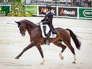Dutton Leads the Way for Land Rover U.S. Eventing Team after Day One of Dressage at WEG