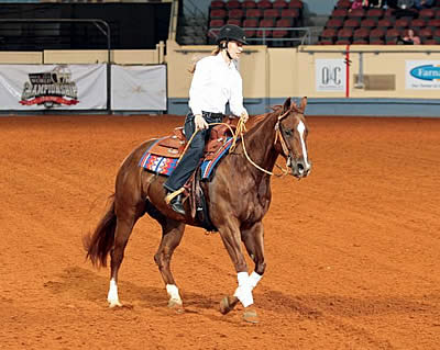 Rebecca Hart Trades Pirouettes for Spins during 2014 Para-Reining Demonstration