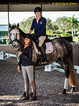 Lionshare Dressage Loans Delorean MF to Para-Equestrian Margaret McIntosh