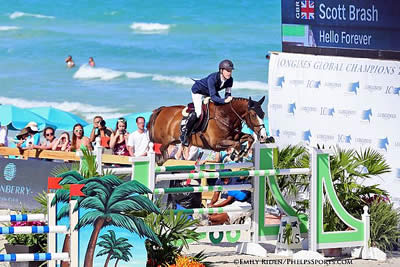 Scott Brash and Hello Forever Win American Invitational at Longines GCT Miami Beach