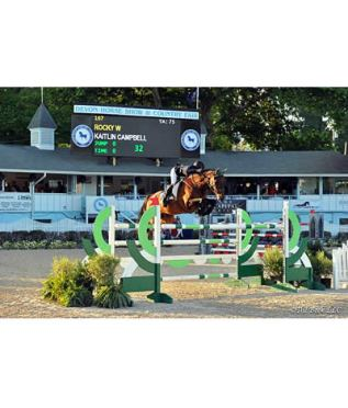 Kaitlin Campbell and Rocky W Conquer $50,000 Idle Dice Open Jumper Stake