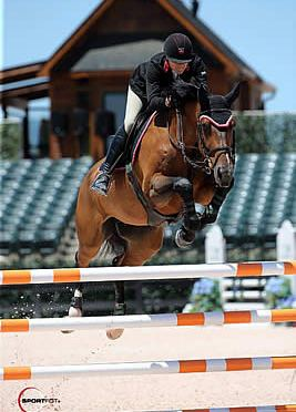 Nina Fagerstrom and Flower Top $1,000 Nutrena Open Jumper 1.40m at Tryon Spring 5