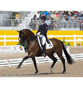 Canadian Dressage Team Lying Second in Pan Am Games Competition