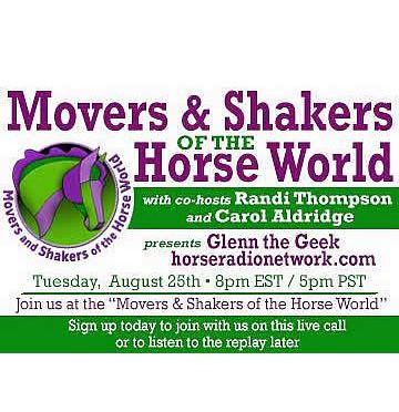 Glenn Receives Movers and Shakers of the Horse World Award