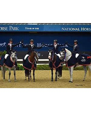 Zone 4 Is Golden in 2015 US National Pony Jumper Team Championship