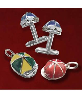 Jane Heart Jockey Cap Jewelry Benefits Permanently Disabled Jockeys Fund