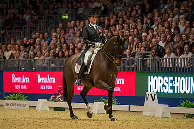 Hester Pips Dujardin in Battle of the British Olympians in London