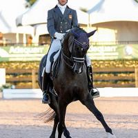 Juan Matute, Jr. (ESP) and Dhannie Ymas at the 2015 Florida International Youth Dressage Championships