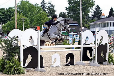 Phoenix Cooke and Skys Burnin Blue Bring Home Adult Jumper Championship at Devon