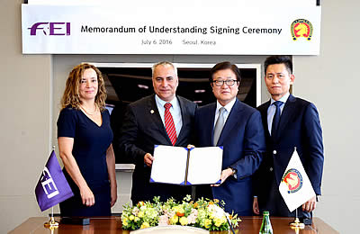 Asian Equestrian Federation Signs Memorandum of Understanding with FEI