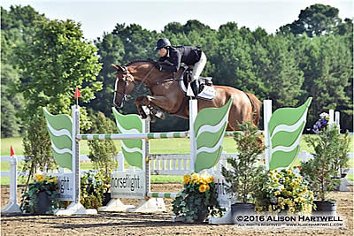Amanda Forte and MHS Automatic Victorious in the $5,000 Horseflight Open Welcome