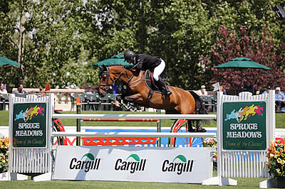Alberto Michan Earns First International Victory at Spruce Meadows in Cargill Cup