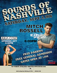 "Tryon International Equestrian Center to Host ""Sounds of Nashville"" Concert on September 3"