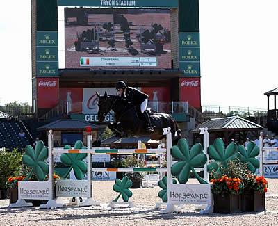 Conor Swail and Cenzo Win $35k 1.45m Horseware Ireland Opener CSI 5* at Tryon Fall V