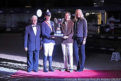 M. Michael Meller Presents Style Award to Charlie Jacobs at CP National Horse Show CSI4*-W