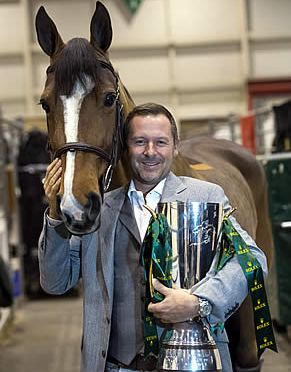 Eric Lamaze Celebrates Winning the Rolex IJRC Top 10 Final with Fine Lady 5