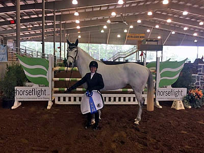 Leffler and Bling Bling Win $5,000 Horseflight Open Welcome