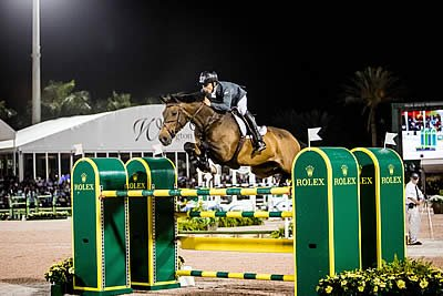Sergio Alvarez Moya Riding Charmeur Triumphs in Thrilling Rolex Grand Prix at WEF