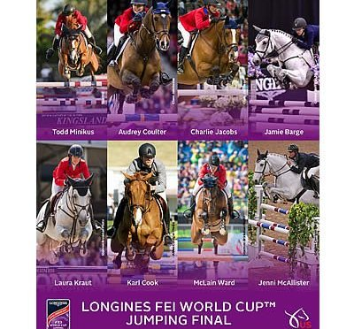 Combinations for 2017 Longines FEI World Cup Jumping Final Omaha