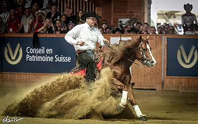 Golds for Belgium, France, Germany and Italy at European and World Reining Championships