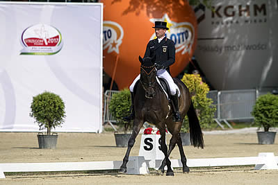 World Eventing Record Total Puts Germans Out in Front after Dressage in Strzegom