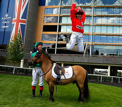 Racing Legends Hand the Reins to Their Mini-Mes for Shetland Pony Grand National at Olympia