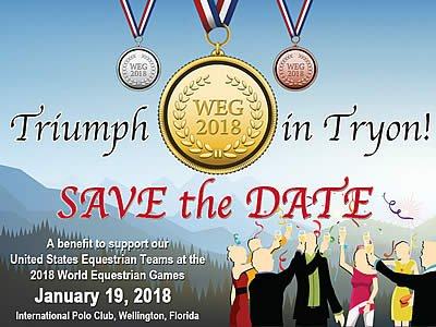 "USET Foundation to Host ""Triumph in Tryon"" Gala to Benefit US World Equestrian Games Teams"