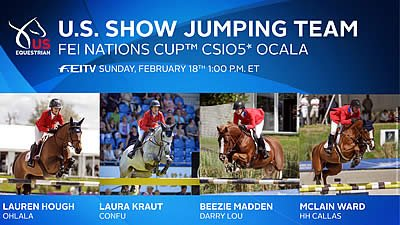 US Show Jumping Team Begins 2018 FEI Jumping Nations Cup Season at CSIO5* Ocala