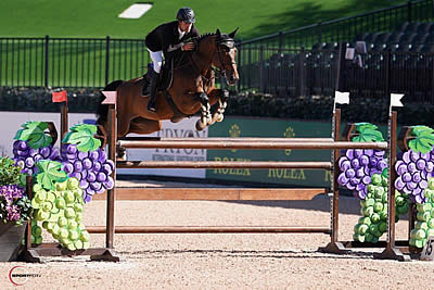 Eugenio Garza Jumps to the Lead in $132k 1.50m Horseware Ireland Welcome Stake at Tryon
