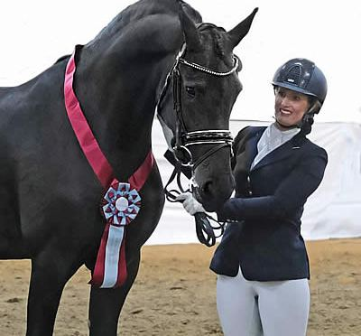 Brend Daughter Tessa KCF Wins the ISF IBOP Dressage Cup