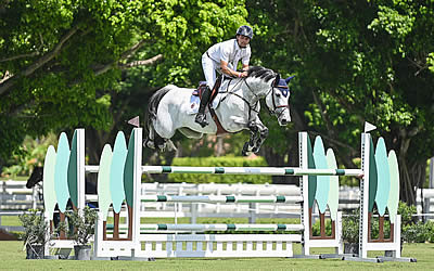 Daniel Bluman and Cartouche Top 70+ Competitors in 1.30m Class at Turf Tour Finale
