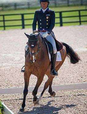 Boyd Martin and Long Island T Lead The Fork after Advanced Dressage