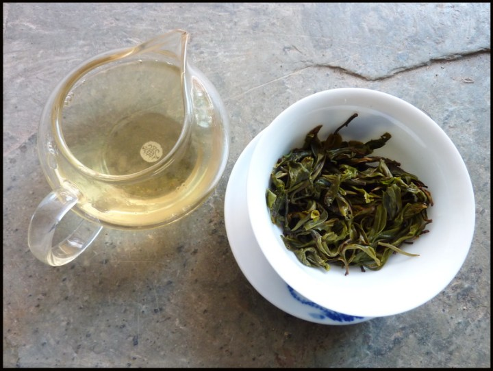 ban pen tea leaves and broth puerh tea for 2012