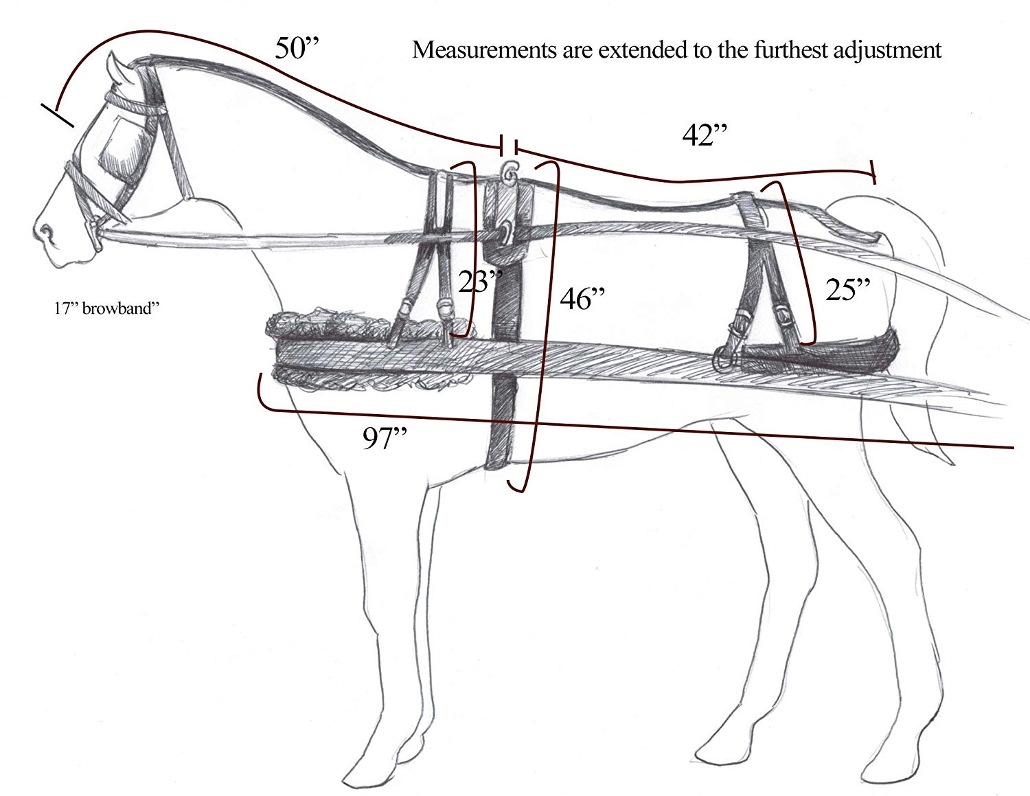 Showman Horse Size Premium Quality Synthetic Driving