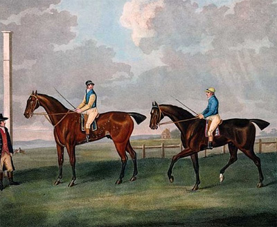 Hambletonian and Diamond at Newmarket, 1800.