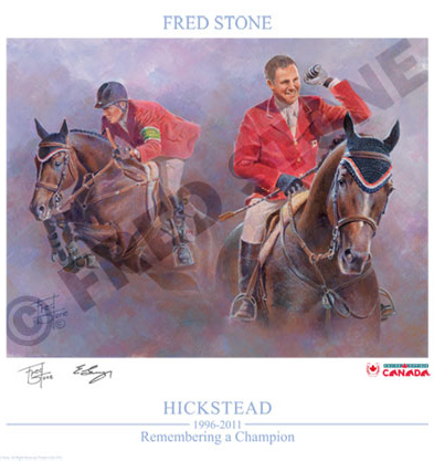 The posted honouring Hickstead, by Fred Stone.