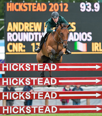 Andrew Bourns and Roundthorn Madios win the Bunn Leisure Derby Trial at Hickstead.