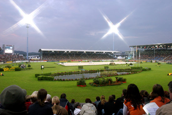 Dressage competition during the World Equestrian Games in Aachen in 2006.