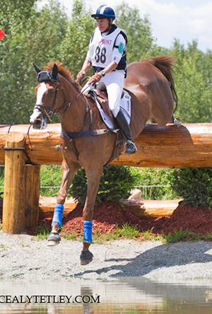 Karen O'Connor (US) and Mr. Medicott head the CIC3* division following Saturday's cross-country.