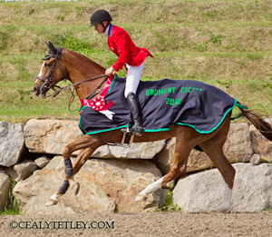 Karen O'Connor (US) and Mr Medicott on their victory round after winning the CIC3* division of the Volvo Bromont CCI3* Three Day Event.