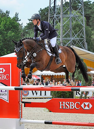 Germany's Michael Jung gave the home fans plenty to cheer about as he ride Leopin FST to victory in the CCI4* at Luhmühlen.