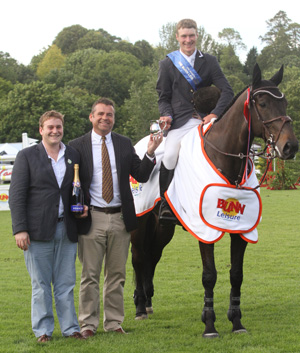 William Whitaker and Fandango collect their prize.
