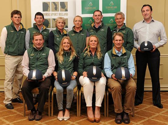 Team Ireland representatives, back row, L-R: Sam Watson, Geoff Curran, Ginny Elliot, Aoife Clarke, Joseph Murphy, Ferdi Eilberg and Todd Minnis. Front row (L-R): Michael Ryan, Camilla Speirs, Elizabeth Power and Mark Kyle.