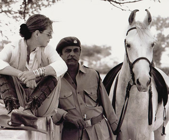 Francesca Kelly and Kr. Raghuvendra Singh Dundlod (Bonnie).