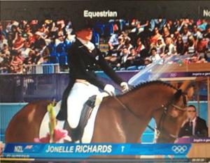 New Zealand's Jonelle Richards and Flintstar.